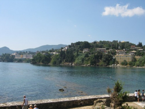 View of Corfu mainland from Mouse Island.