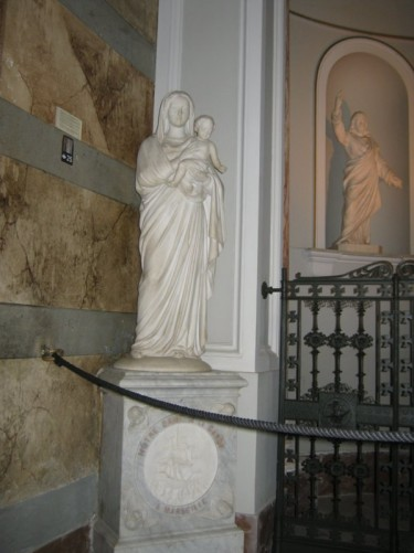 Statue, Virgin Mary and Child.