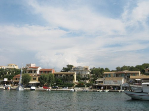 View of Kassiopi harbour.