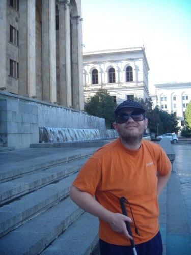 Another picture of Tony outside the parliament building.