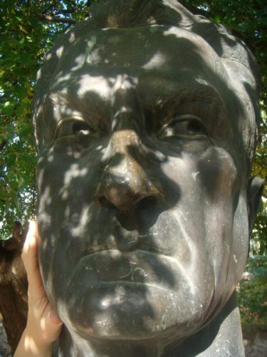 Close-up of sculpture.