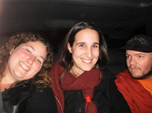 Tony, Matild and a lady from Iowa, USA.