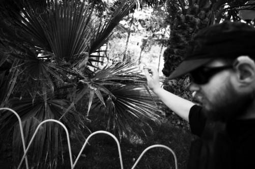 Tony touching nature, downtown Tupiza.
