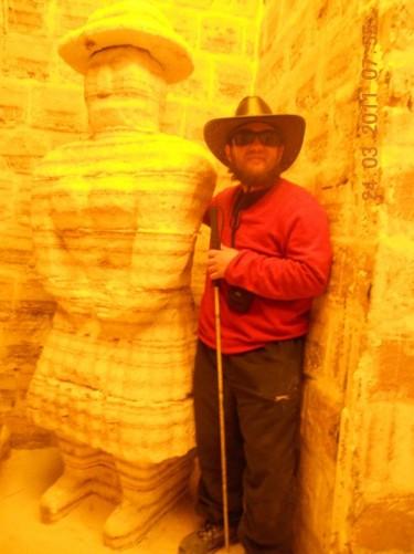 Tony in Salt museum, Salar de Uyuni.