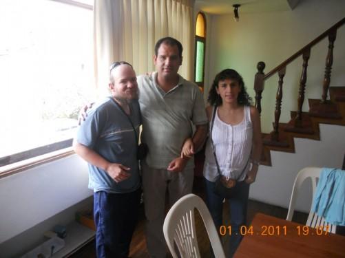 Tony, Antonio and Monica at Sense International Headquarters, Lima. 1st April 2011.