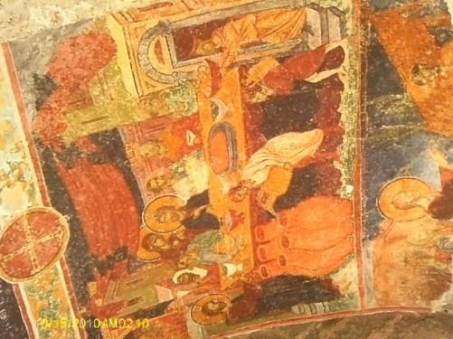 Frescos inside church.