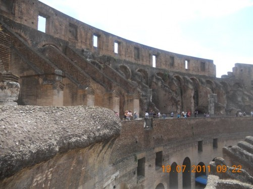 The Colosseum interior.
