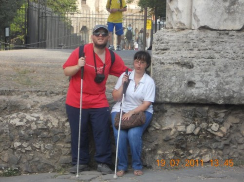 Tony and Tatiana at the Arch of Titus, evening of 19th July.