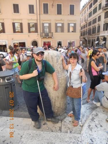 Tony and Tatiana in Piazza di Spagna.