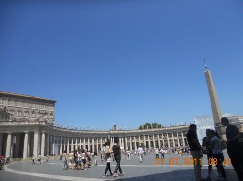 St. Peter's Square (Piazza San Pietro).