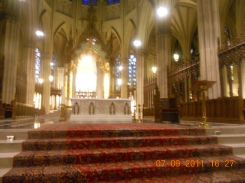 Inside St. Patrick's Roman Catholic Cathedral.