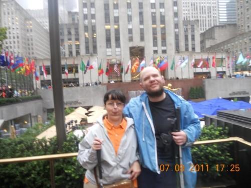 Tony and Tatiana in the Rockefeller Plaza.