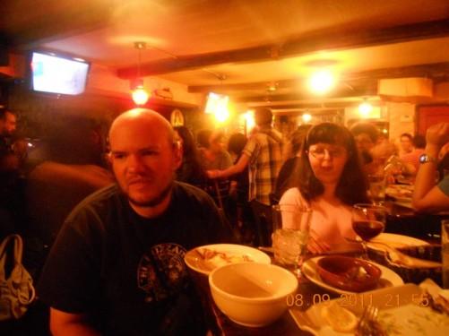 Tony, Tatiana in a Flamenco bar, lower east side Manhattan.