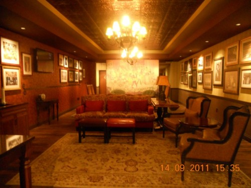 An artists' lounge to relax in before and after shows, very comfortable furniture!