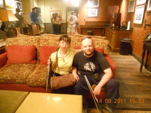 Tony, Tatiana sat on a comfy sofa in a hallway between the changing rooms at the Grand Ole Opry.