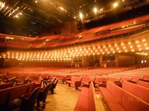 View of the 4,400 seat Grand Ole Opry auditorium.