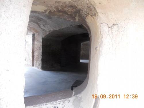 Inner courtyard showing defensive walls.