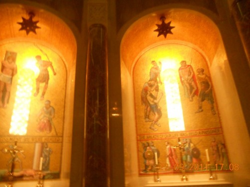 Mosaic decoration inside the Basilica.