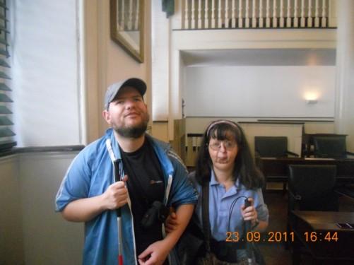 Tony, Tatiana, inside Congress Hall.