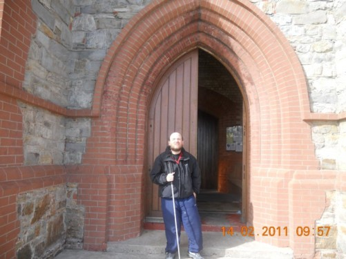 Wooden doorway of Christ Church Cathedral.