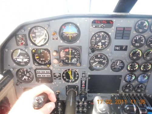 Cockpit instruments.