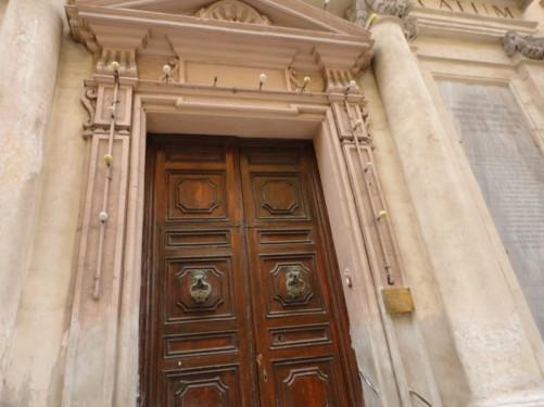 Doorway of St. Barbara church.