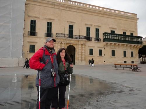 Tony, Tatiana and the Grand Master's Palace.