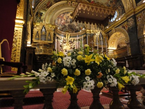 View towards the main altar.