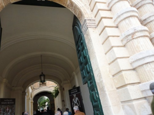 Entrance to the State Rooms and Armoury, Grand Master's Palace.