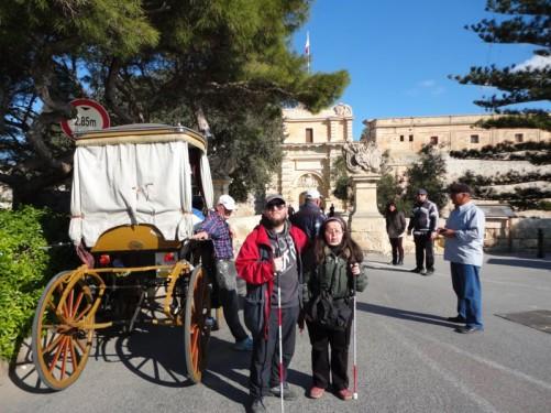 Tony and Tatiana at the Main Gate.