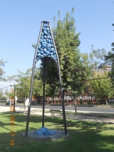 A sculpture in Barrio Bellavista.