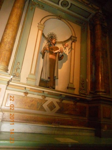 Inside The Metropolitan Cathedral of Santiago.