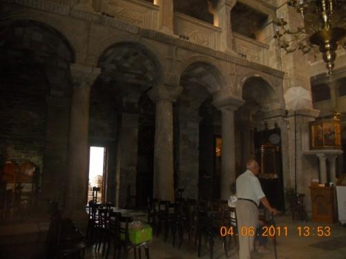 Inside the Church of Panagia Ekatontapiliani.