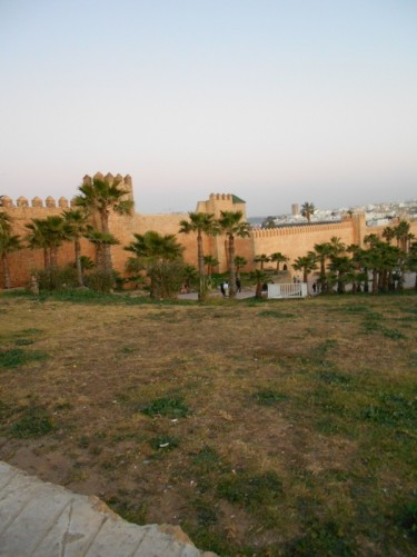 The outside wall of the Kasbah des Oudaias.
