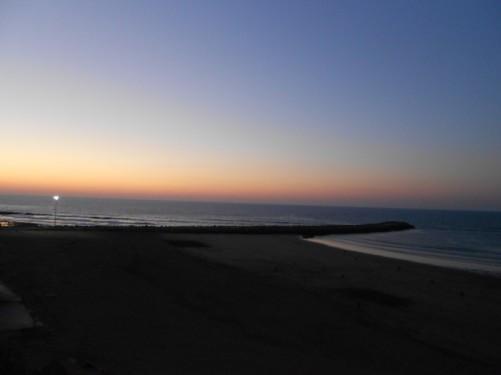 Rabat Beach in the evening gloom, located below the Kasba de Oudaias.