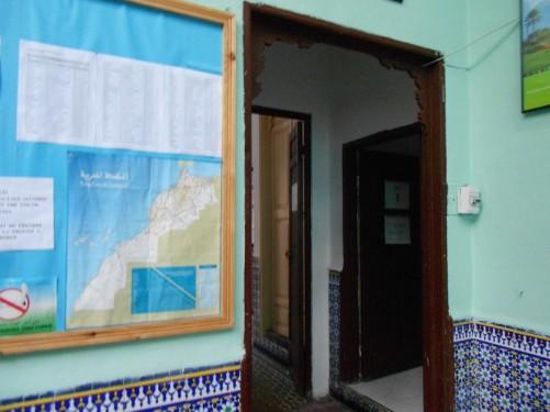 The foyer of HI Rabat Hostel where Tony stayed.