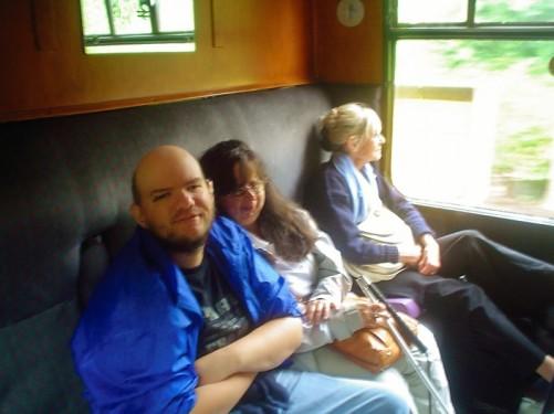 Tony and Tatiana on-board the stream train.