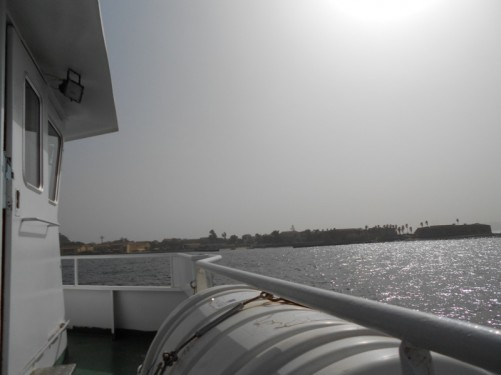 Now nearing the Ile de Gorée.