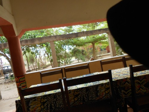 Chairs and tables at Kairoh Garden Guesthouse.