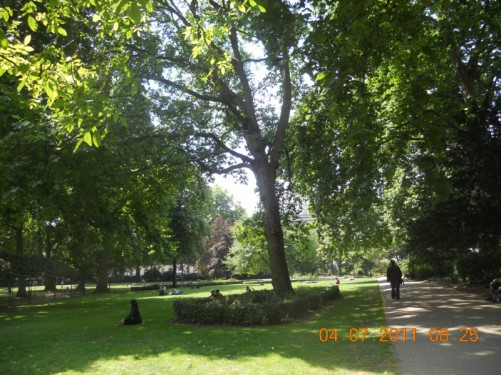 Russell Square Park.