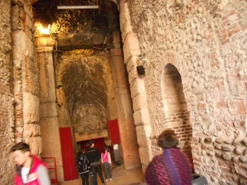 Entrance tunnel into the amphitheatre.