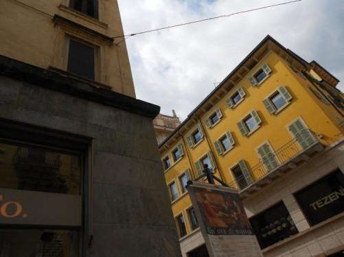 Historical buildings near Piazza delle Erbe.