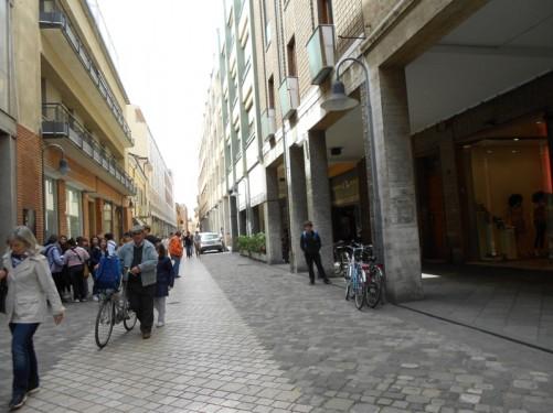 Via Armando Diaz. Shopping street in Ravenna.