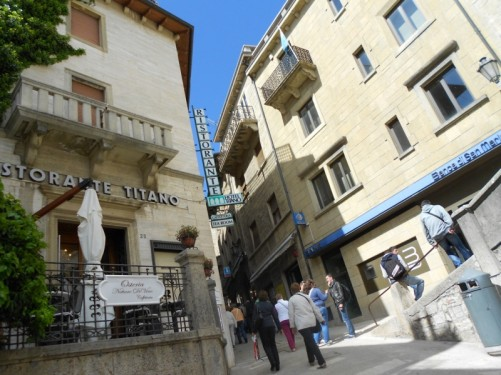 Another narrow street going uphill from Piazella del Titano.