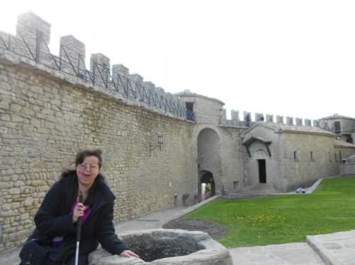 Tatiana. A view of the fortresses walls behind.