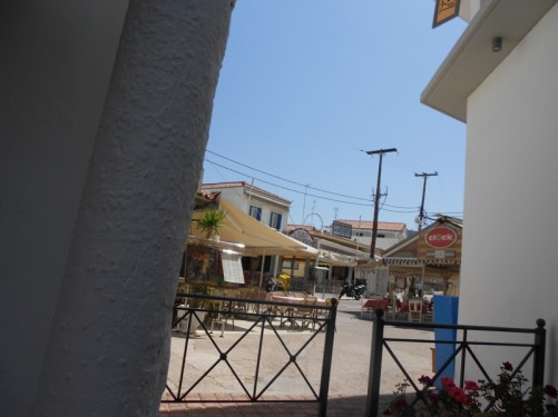Cafés and restaurants in Spetses town.