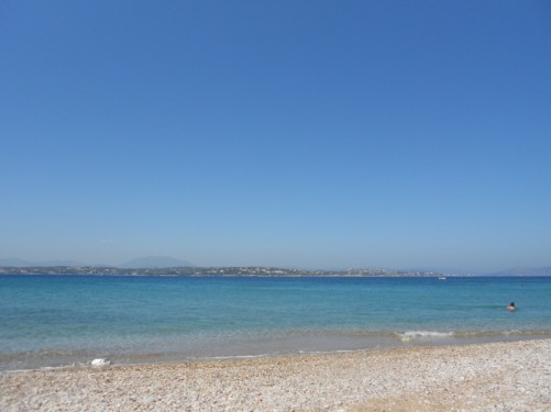 On the beach in Spetses.
