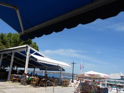 A café by the harbour.