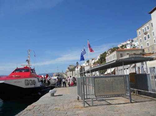 Harbour at Hydra.