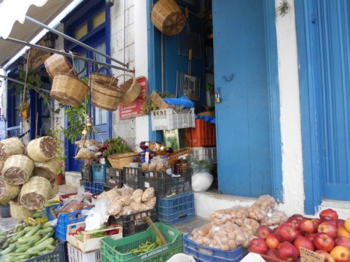 A small shop selling fruit and nuts.
